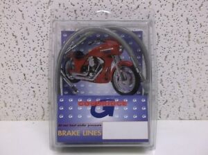 Stainless Steel Rear Brake Line Kit for 1984-1985 Harley FLT, FLHT, FLHS & FLHR