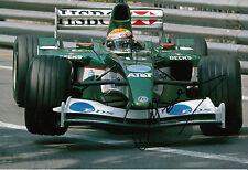 Antonio Pizzonia mano firmado Jaguar Racing F1 12x8 Foto 1.