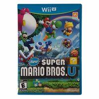 New Super Mario Bros. U (Wii U, 2012) Complete w/Manual CIB