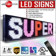 """LED SUPER STORE: 3COL/RWP/IR 12""""x31"""" Programmable Scrolling EMC Display MSG Sign"""