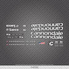 01452 Cannondale Bicicletta Adesivi-Decalcomanie-trasferimenti-Bianco con chiave nero