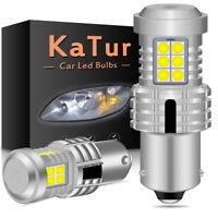 2 x ampoule CANBUS 24W LED BAU15S 1156 PY21W Blanc Voiture Feux Jour Clignotant