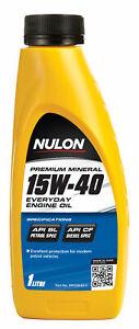 Nulon Premium Mineral Everyday Engine Oil 15W-40 1L PM15W40-1 fits Mazda 121 ...