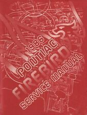 1986 Pontiac Firebird Trans Am Shop Service Repair Manual Engine Drivetrain