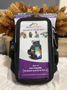 "Armpocket Mega i-40 Armband fits up to 6.5"" Phone, Medium Strap, Black,"