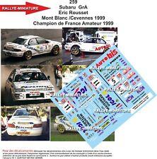 Calcomanías 1/43 Ref 0259 Subaru Gra Rousset Mont Blanco O Cevennes 1999