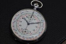Vintage Tavannes Chronometre Chronograph Pocket Watch Excelsior Park