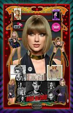 """Taylor Swift-11x17"""" collage poster -Vivid Colors - Deep Blacks -Signed by Artist"""