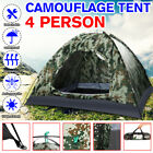 Portable Camouflage 3-4 Person Camping Hiking Automatic POPUP Tent Outdoor USA