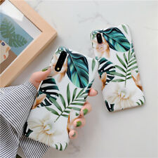 Art White Flower Phone Cover For iPhone 11 For Huawei P30 For Samsung Soft Cases