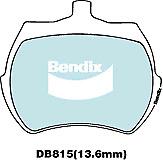 Brake Disc Pad Set  Bendix DB815 GCT For AUSTIN-HEALEY HOLDEN MG RILEY TRIUMPH
