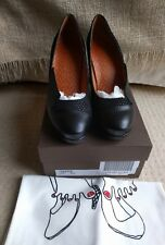 Chie Mihara Varda Black leather suede Court heels pumps size 40 UK 7