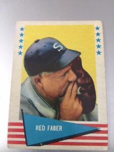RED  FABER  1961 FLEER BASEBALL GREATS  #24 GOOD Crease