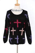 TH-08 Gr. S-M Pullover schwarz black Kreuz cross Gothic Japan Trend Fashion