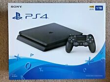 New PlayStation 4 Slim (1TB) - PS4 Game Console w/ Controller - Jet Black