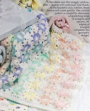 COZY Rainbow Dream Wrap/Baby Afghan/Crochet Pattern INSTRUCTIONS ONLY