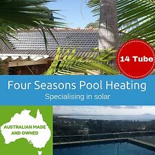 PREMIUM QUALITY 14 TUBE FOUR SEASONS POOL/SPA SOLAR HEATING SYSTEM DIY AUST MADE