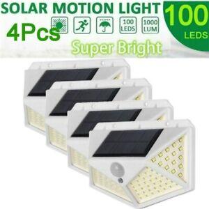 4Pack Lampe solaire 100LED éclairage Détecteur de Mouvement étanche pour jardin