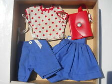 Shirley Temple Doll Sears Outfit Skirt, Purse, Shirt, Shorts Box 1957 Rare 9508