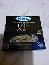 KMC X9.93 116-Link Stretch Proof 9-Speed Bike Chain for SRAM, Shimano