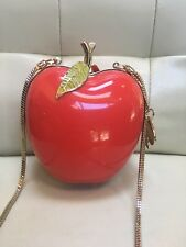 Kate Spade New York Red Far From The Tree Resin  Apple Bag Clutch Rare