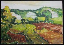 Gérard VIEILLEVIE (1939-1992) 2 paysages Aïzpiri La Queue Les Yvelines France