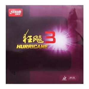 DHS Hurricane 3 Table Tennis Rubber Official UK stock