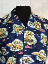 Hilo Hattie Mens Aloha Hawaiian Shirt Big Kahuna Hula Girl Surfer Floral
