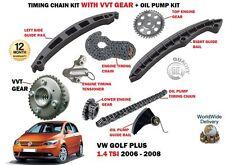 Para VW Golf Plus 1.4 TSI 5/2006-6/2008 Kit de Cadena Distribución + Vvt Equipo