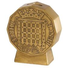Old Money A28491 Threepence Coin Money Bank