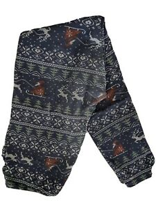 TC lularoe holiday christmas leggings sweater santa sleigh reindeer snowflake