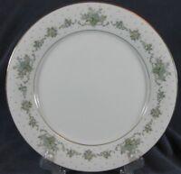 Noritake Allston 6304 Dinner Plates Green Baskets Gray Scrolls