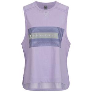 Adidas X Stella Mccartney Ladies Logo Tank Top Fitness Sport Shirt DT9229 Purple