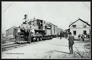 c.1910 CPR Railway Station Saskatoon Saskatchewan Canada Postcard H716