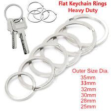 Premium Stainless Steel Metal Flat Key Rings Keyring Keychain Split Ring Hoop Us
