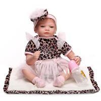 Reborn Girl Doll Xmas Gift Lifelike Baby Dolls Toddler Toys Vinyl Silicone 22''