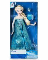 Disney FROZEN Elsa Doll Classic Braided Hair Ring Blue Glittery Dress Birthday