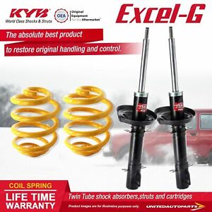 Front KYB EXCEL-G Shock Absorbers Lowered King Springs for VOLKSWAGEN Golf MkIV
