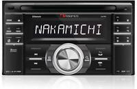 NEW Nakamichi NA788 DOUBLE 2 DIN CD/MP3 Player Bluetooth Front USB AUX SD Slot