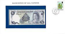ILES CAYMAN - ENVELOPPE TIMBRÉE ET BILLET 1 DOLLAR L 1971 (1972) A/2