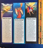 Uriel Michael & Raphael Bookmarks Devotion Prayer Vintage Gift Bookmarks