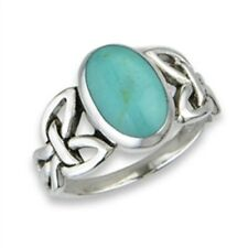 Sterling Silver Turquoise Filigree Ring - Free Gift Packaging
