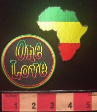 AFRICA MAP PATCH & ONE LOVE African Continent Outline ~ Universal Love 67WG