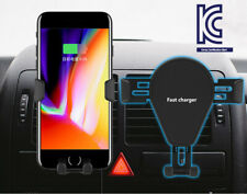 Wireless car charger vehicle mobile phone stand bracket air vent mount A123
