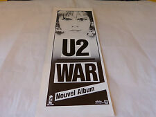 U2 - Petite publicité de magazine / Advert WAR !!!