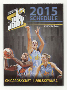 Chicago Sky WNBA Basketball 2015 Pocket Schedule
