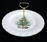 NIKKO HAPPY HOLIDAYS SERVING TRAY WITH POST HANDLE ORIGINAL BOX