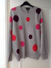 Marks And Spencer Grey With Spots Cashmere Jumper Sweater Size 16