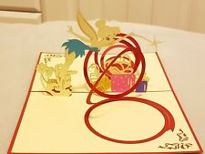 3D Pop Up Magic Fairy Greeting Card. For Best wishes, Birthday, Good luck or any