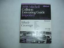 1998 Mitchell European MBenz BMW Porsche Collision Parts Estimating Manual Guide